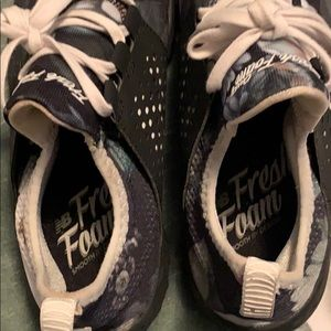 Free foam floral new balance sneakers